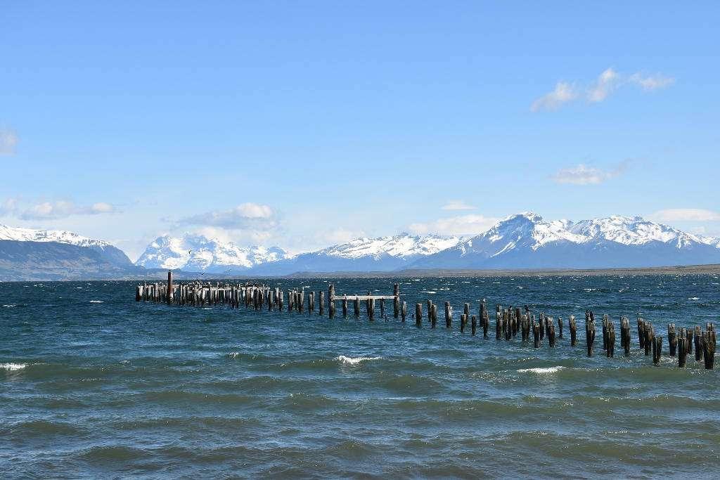Antiguo muelle de Puerto Natales, Patagonia chilena, Chile