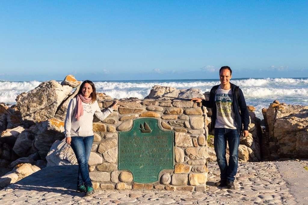 Punto más al sur de África en el Cabo de las Agujas, Sudáfrica