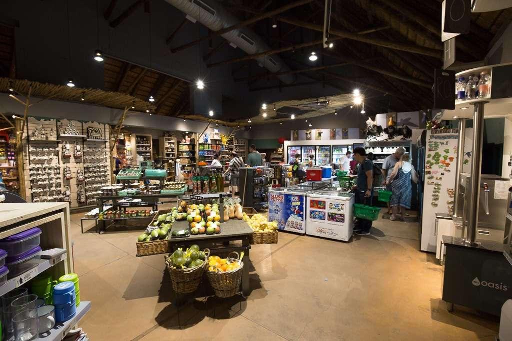 Tienda supermercado del campamento Skukuza, Kruger, Sudáfrica