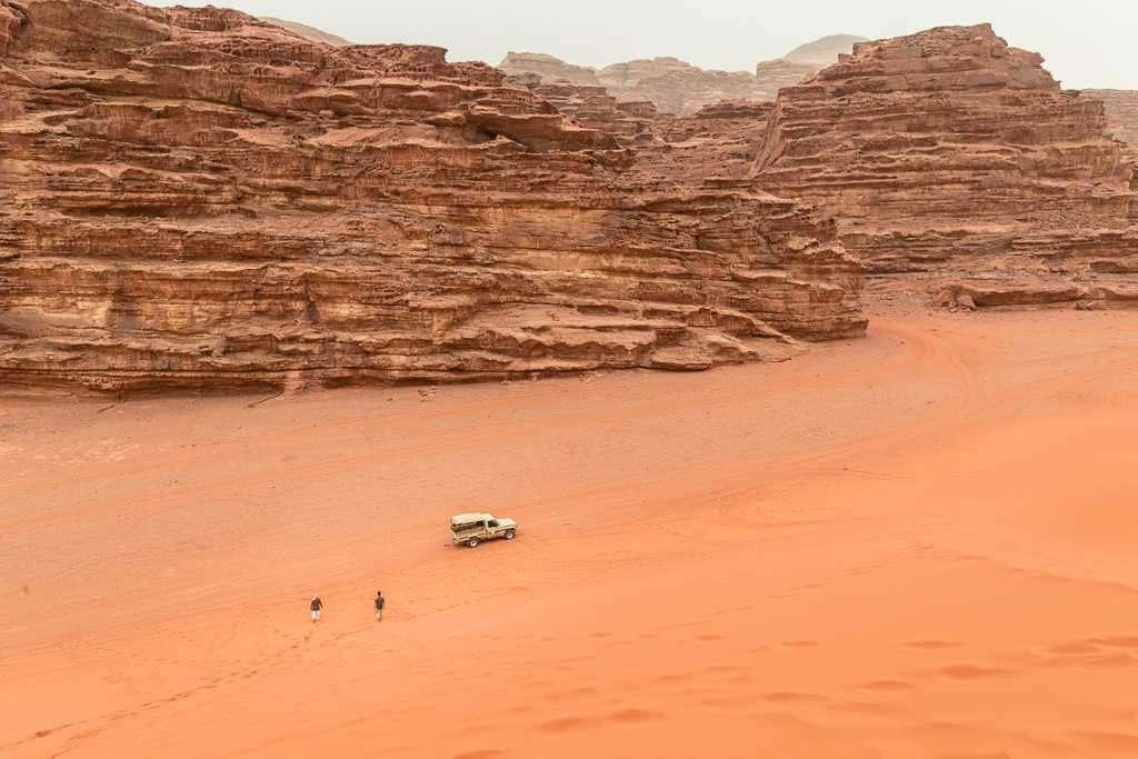 Vistas desde la duna roja, Wadi Rum, Jordania