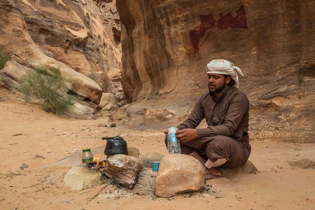 Té en el desierto blanco, Wadi Rum, Jordania