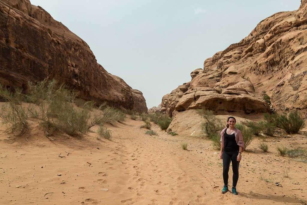 Valle del desierto blanco, Wadi Rum, Jordania