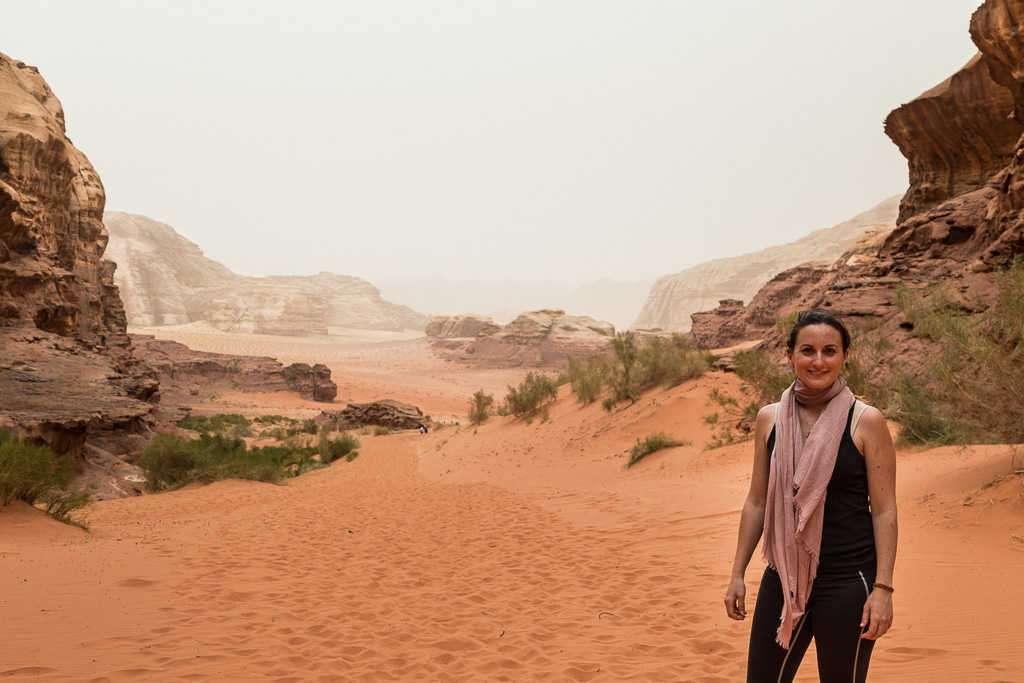 Fin de ruta por el desierto rojo, Wadi Rum, Jordania