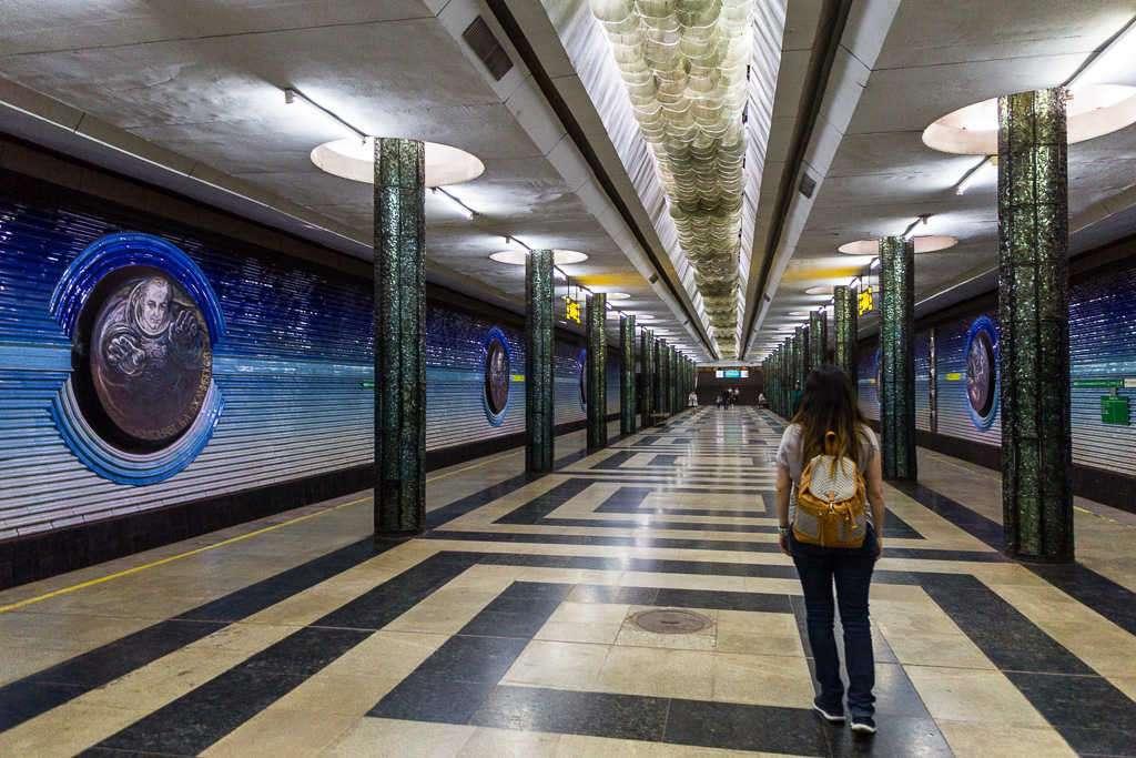 Estación de metro Kosmonavtlar, Tashkent, Uzbekistán