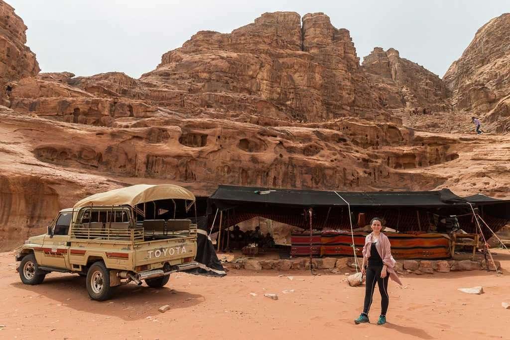 Jaima cerca de la casa de Lawrence de Arabia, Wadi Rum, Jordania