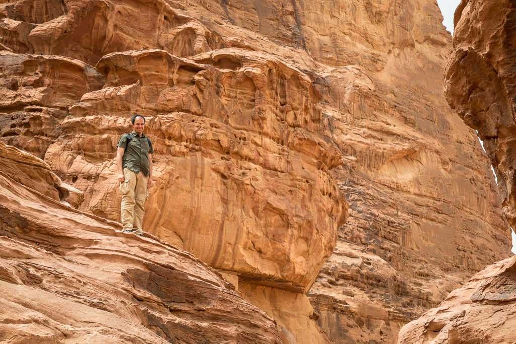 Macizo cerca de la casa de Lawrence de Arabia, Wadi Rum, Jordania