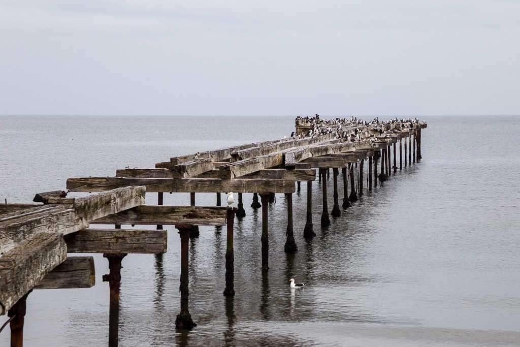 Muelle en la Costanera de Punta Arenas, Chile