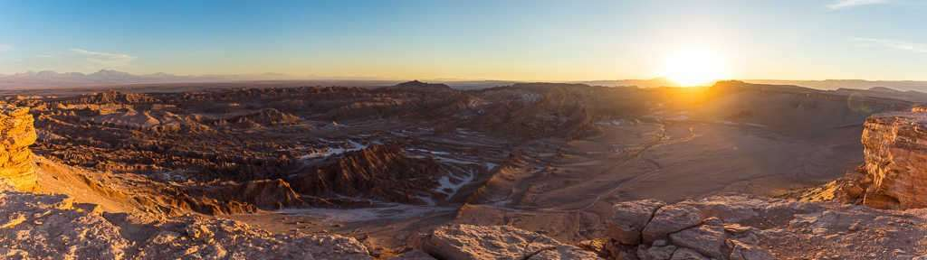 Panorámica desde el mirador Kari o Piedra del Coyote, Atacama, Chile