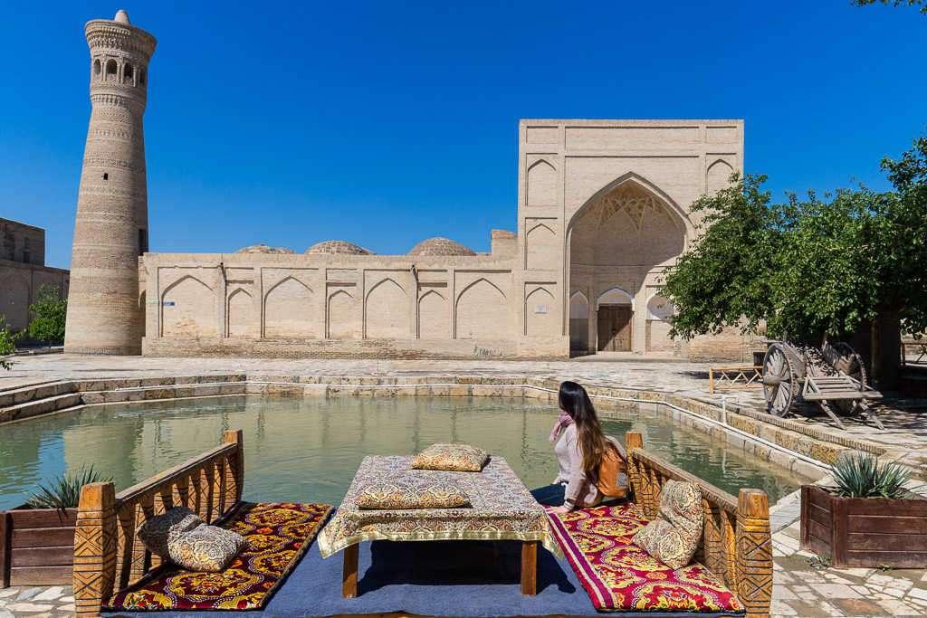 Rincón con encanto, Bujará, Uzbekistán