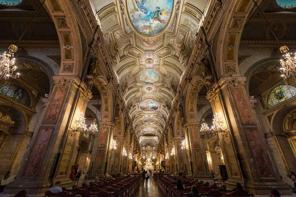 Techo de la catedral de Santiago de Chile