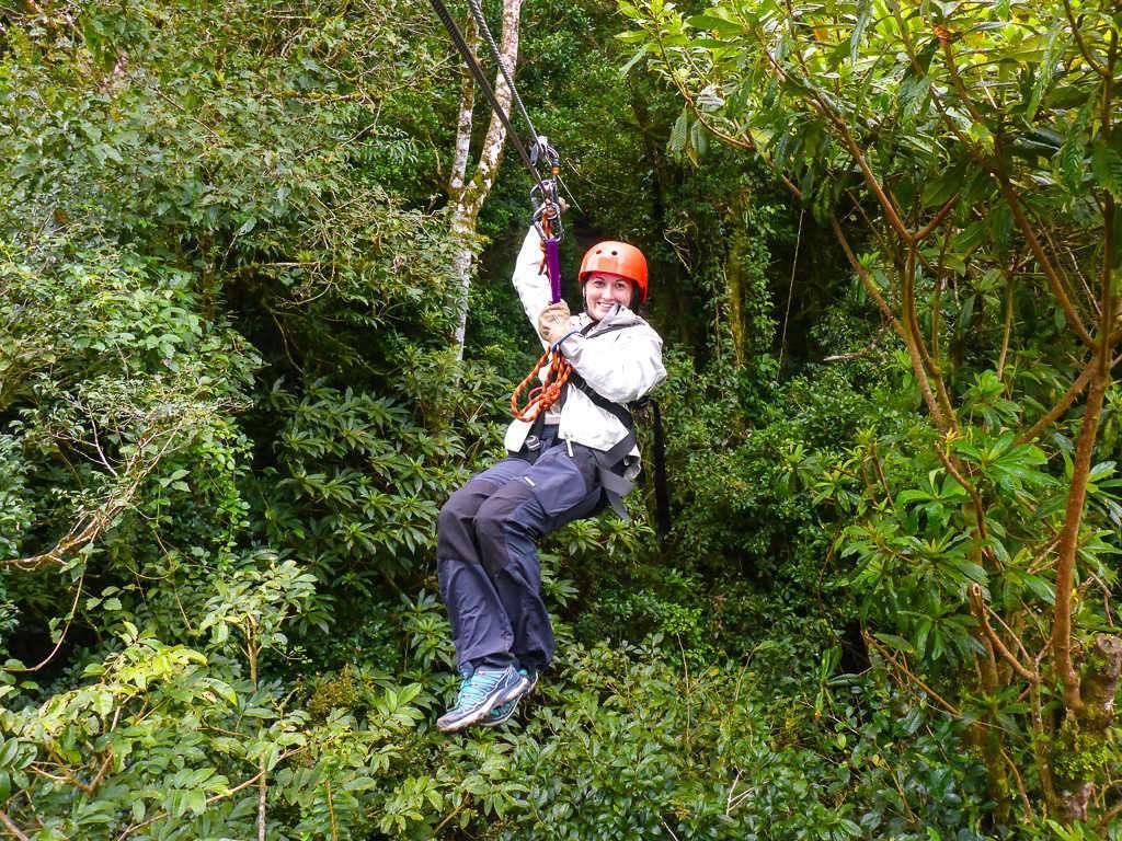 Tirolinas en Monteverde, Costa Rica
