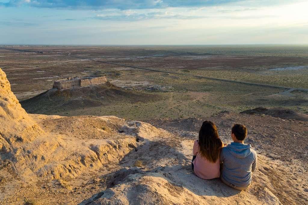 Vistas desde Ayaz Kala, Uzbekistán
