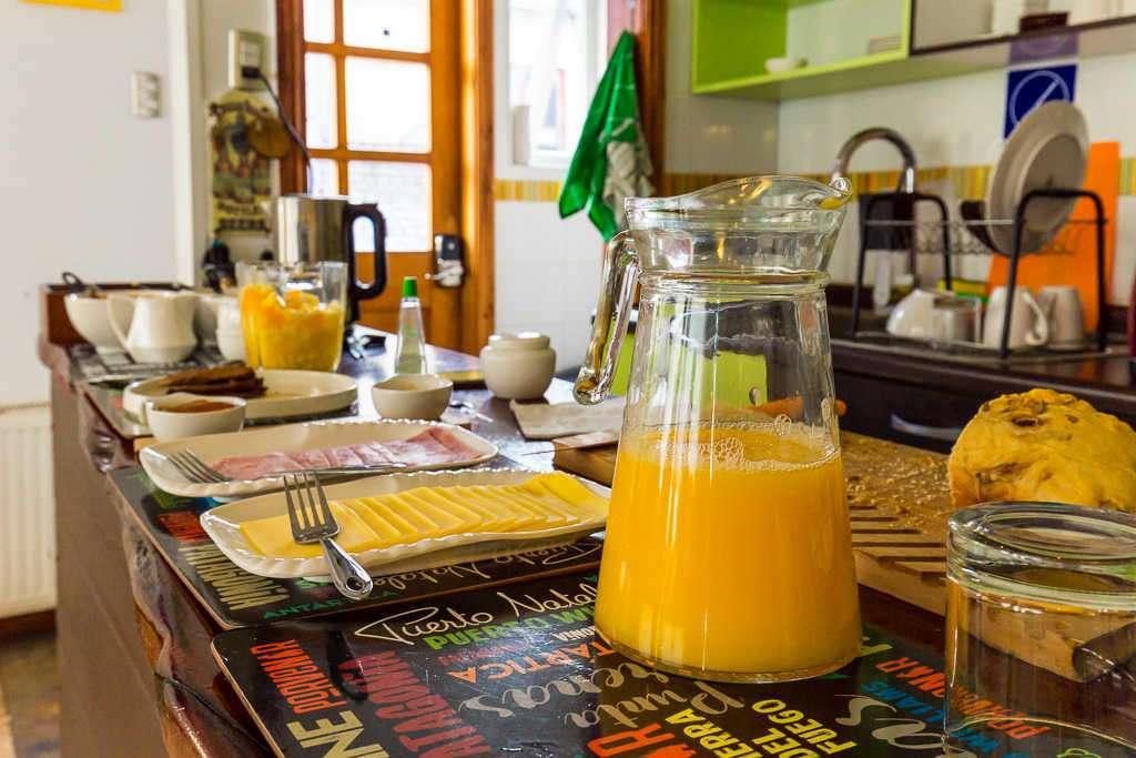 Opciones de desayuno Casa Hostal Innata Patagonia, Punta Arenas, Chile