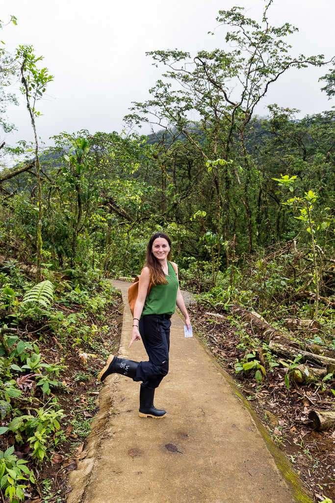 Botas de agua en el parque nacional Volcán Tenorio, Costa Rica