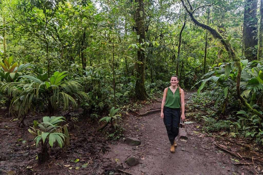 Camino del parque nacional Volcán Tenorio, Costa Rica