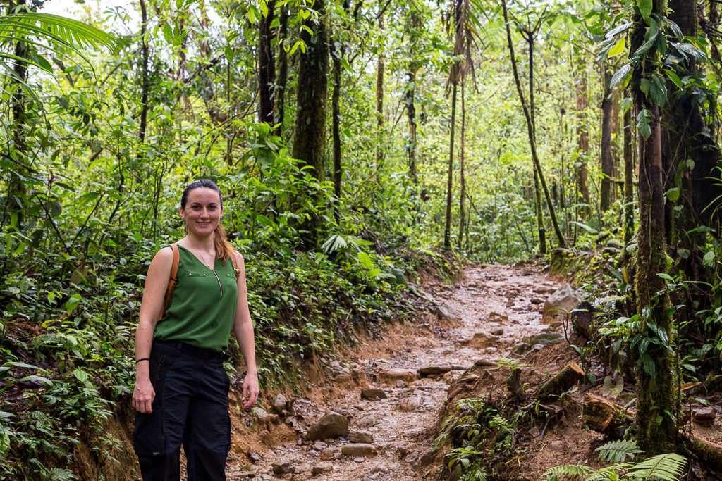 Caminos de piedras en el parque nacional Volcán Tenorio, Costa Rica