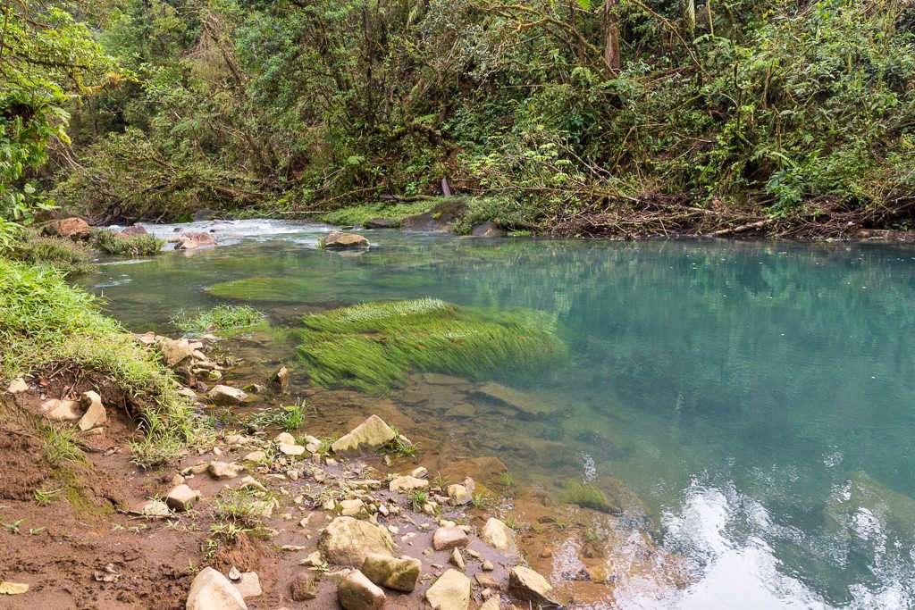 Laguna río Cesleste en el parque nacional Volcán Tenorio, Costa Rica