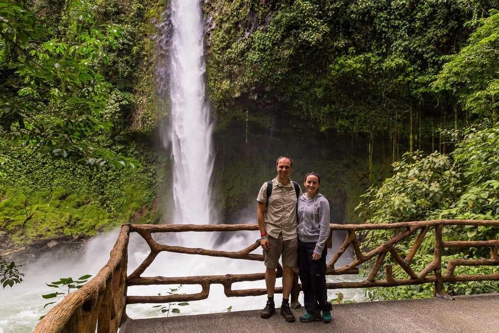 Mirador principal de la catarata La Fortuna, Arenal, Costa Rica