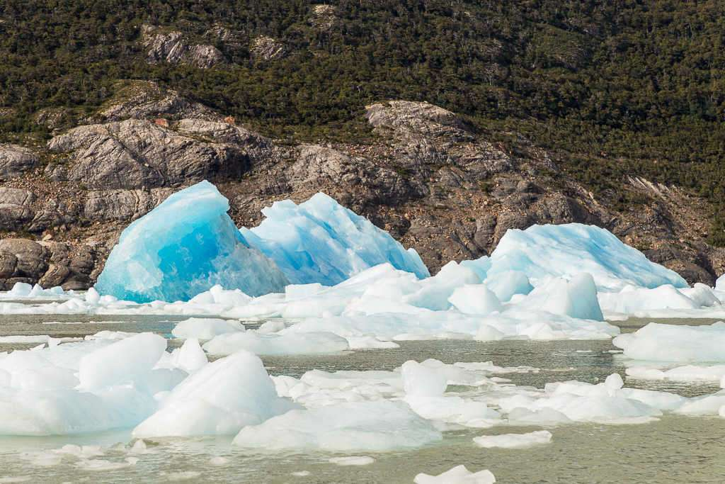 Icebergs del glaciar Grey, Torres del Paine, Chile