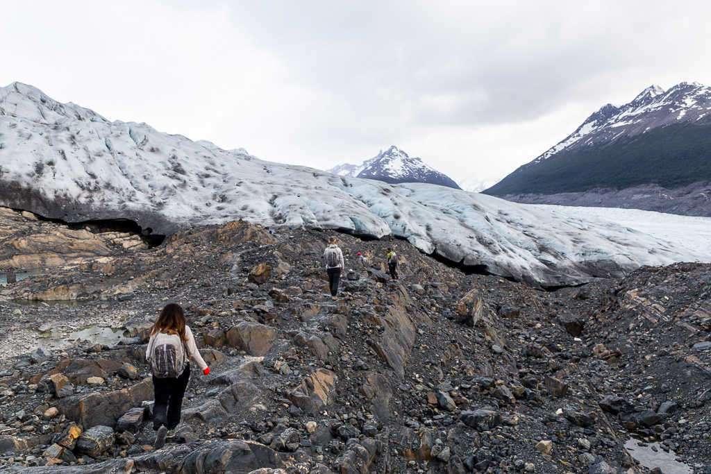 Inicio del glaciar Grey, Torres del Paine, Chile