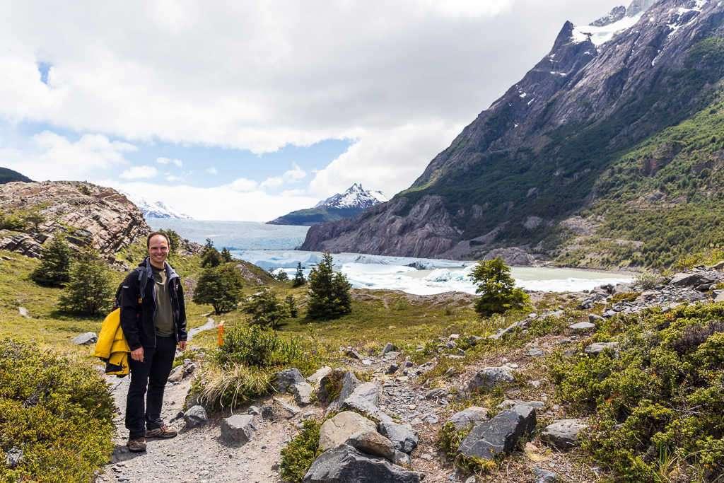 Paisajes frente al glaciar Grey, Torres del Paine, Chile
