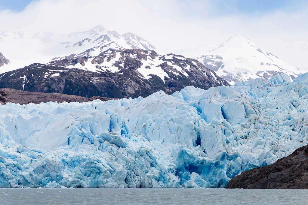 Pared del hielo del glaciar Grey, Torres del Paine, Chile