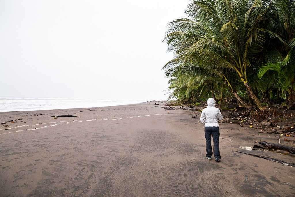 Playa en el parque nacional Tortuguero, Costa Rica
