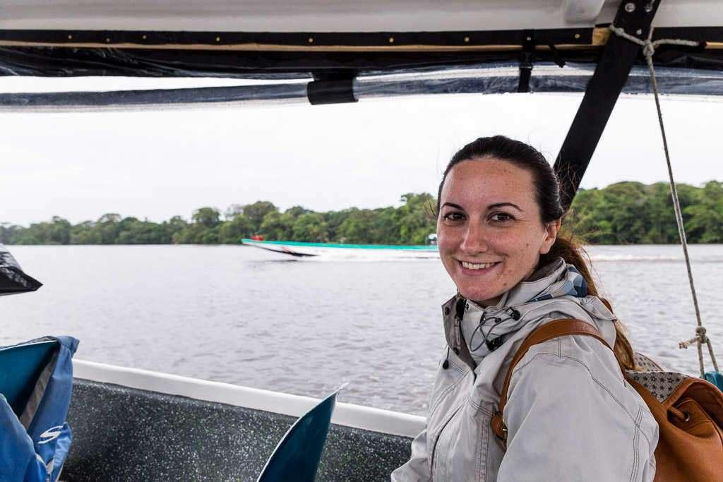 Taxi acuático en Tortuguero, Costa Rica