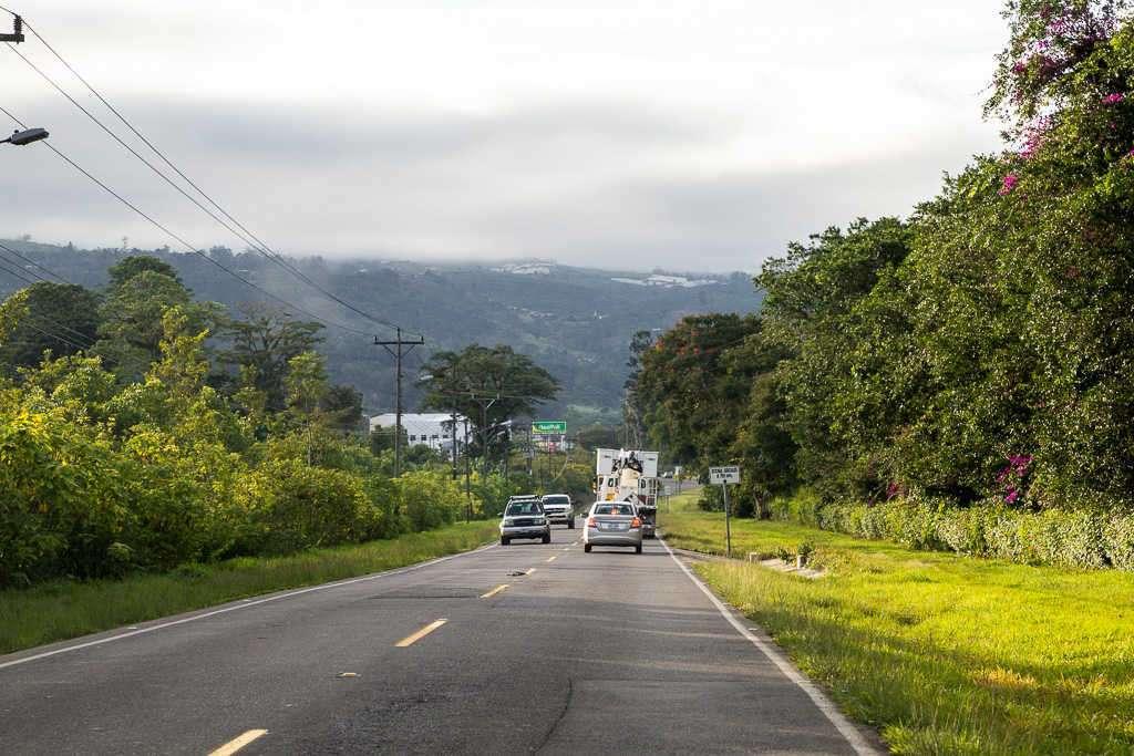 Carretera desde Cahuita hasta San José, Costa Rica