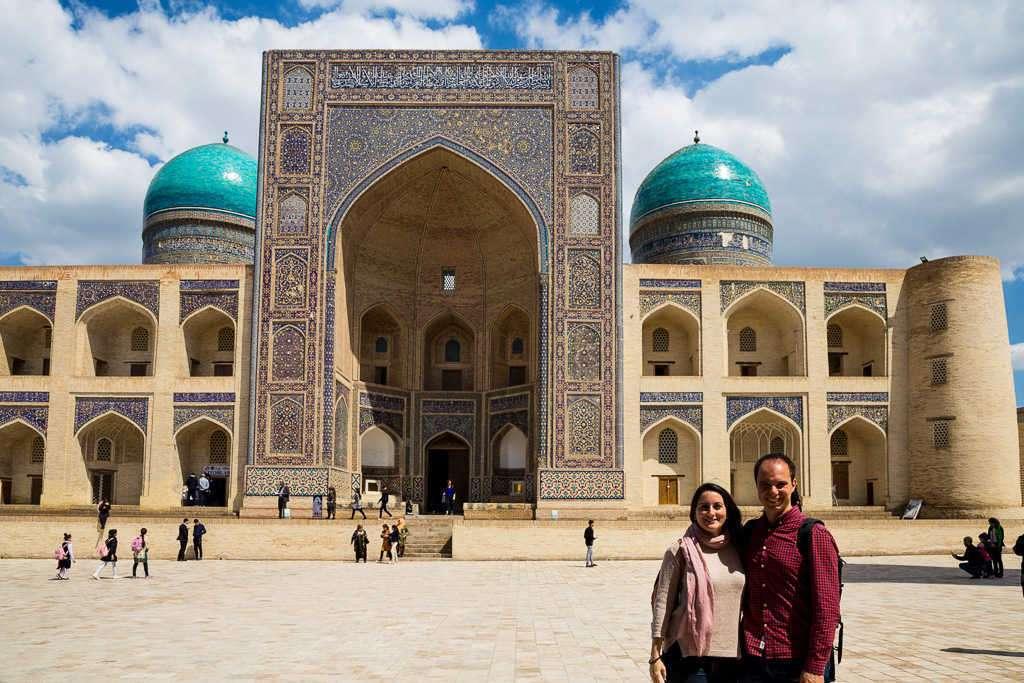 Fachada de la madraza Mir-i-Arab, Bujará, Uzbekistán