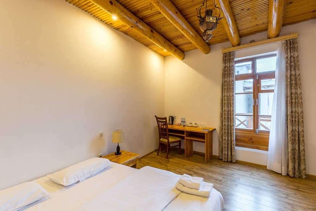 Habitación doble en el Lyabi-House Hotel, Bujará, Uzbekistán